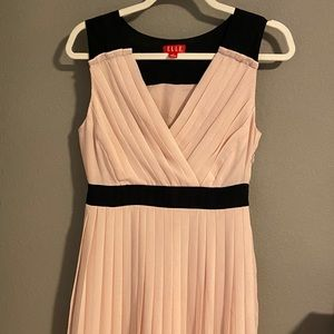 Elle blush & black sleeveless dress